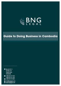 Guide to Business in Cambodia Cover
